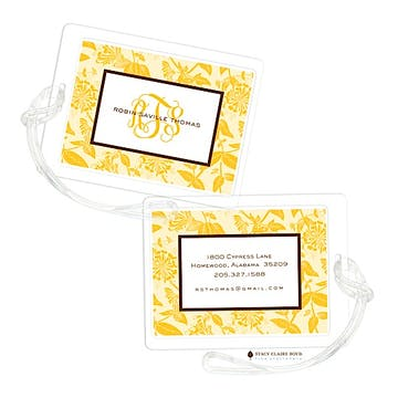Honeysuckle - Yellow Luggage Tag
