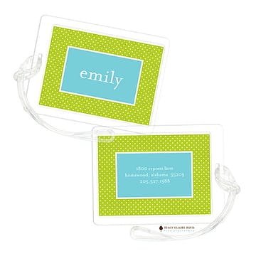 Light Bright - Sour Apple Luggage Tag