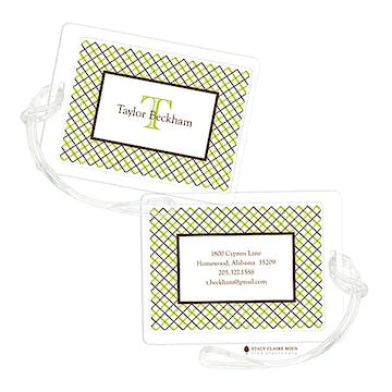 Mad for Plaid - Keylime Luggage Tag