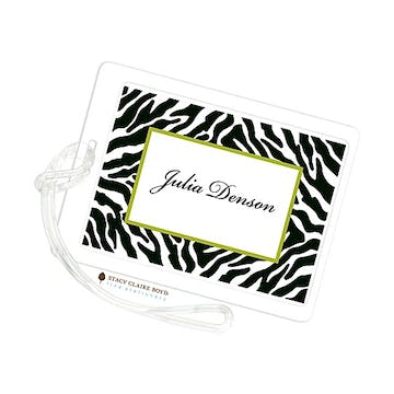 Wild Thang - Black Luggage Tag