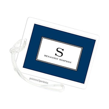Elegance Navy ID Tag