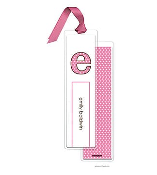 Big Dots Bubblegum Tall Bookmark with Bubblegum Ribbon