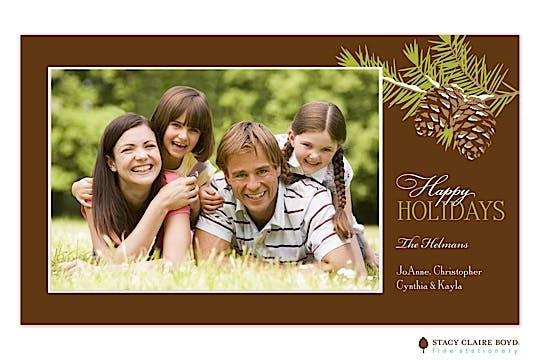 Woodsy Pine Flat Photo Card