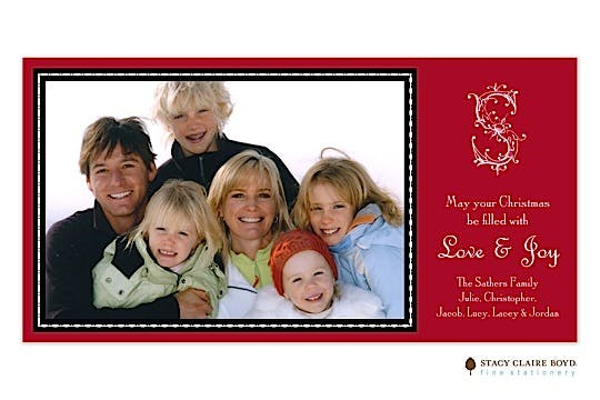 Ornamental Garland Flat Photo Card