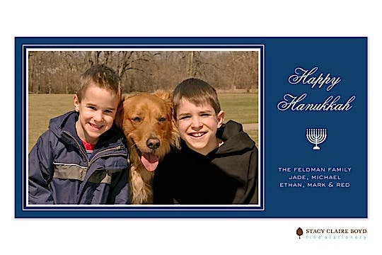Hanukkah Holidays Flat Photo Card