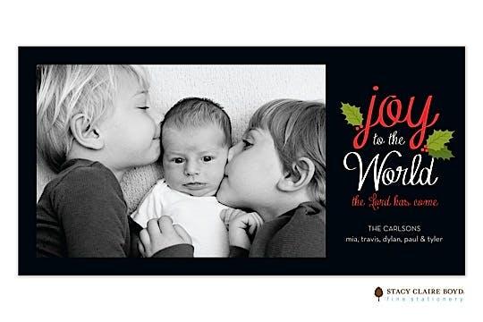 Joy To The World Print & Apply Flat Photo Card