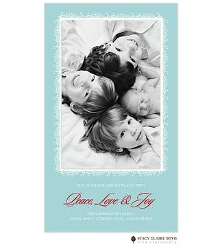 Powdered Snow Flat Photo Card