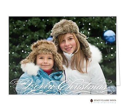 Seasonally Scripted Holiday Folded Photo Card