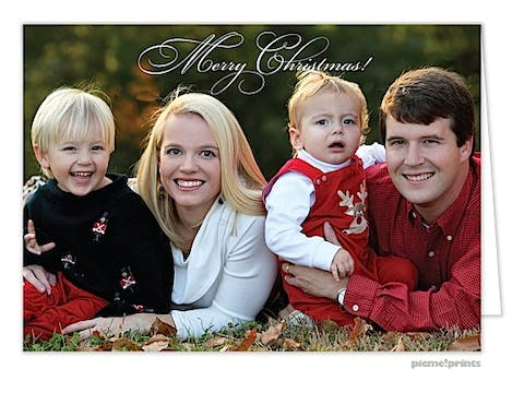 just your photo Holiday Card
