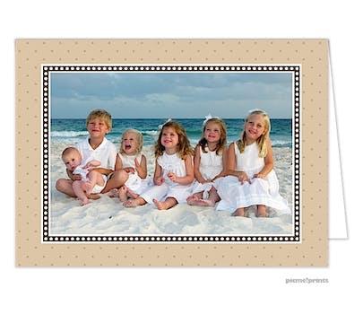 dots & more dots tan Holiday Card