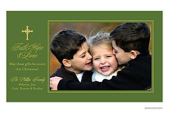 Cross Evergreen Print & Apply Flat Photo Card