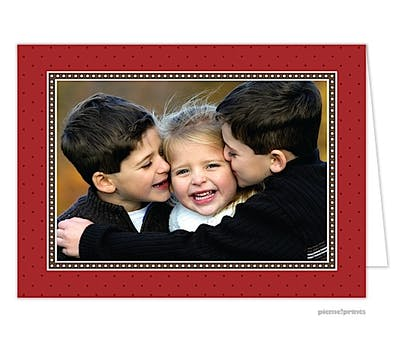 dots & more dots crimson Holiday Card-Print & Apply