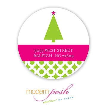 Bubble Holiday 2 Inch Address Label