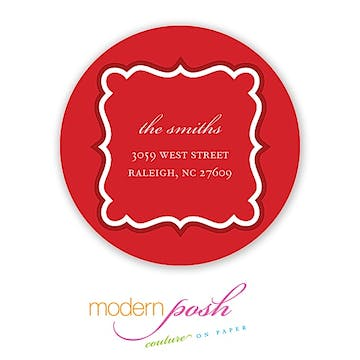 Simply Holiday 2 Round Inch Address Label