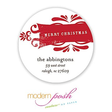 Weathered Holiday 2 Inch Address Label