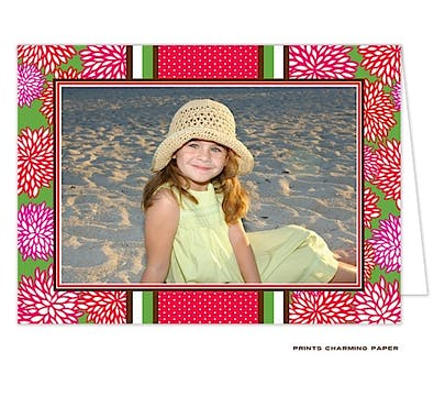 Holiday Floral Folded Photo Card