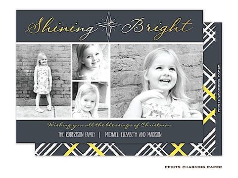 Shining Bright Flat Photo Card