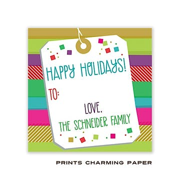 Festive Color Bands Gift Sticker