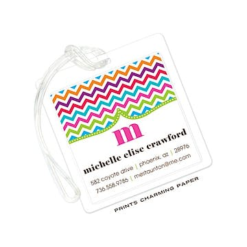 Multi-Color Chevron ID Tag