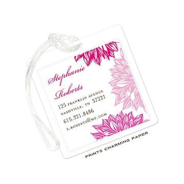 Pink Flower ID Tag