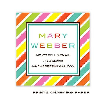 Bright Multi Color Diagonal Stripe Sticker