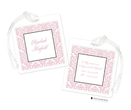 Damask Dream - Pink Luggage Tag