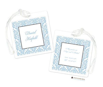 Damask Dream - Blue Luggage Tag