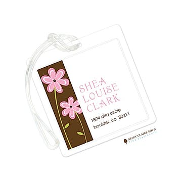Pink Daisy Delight Luggage Tag