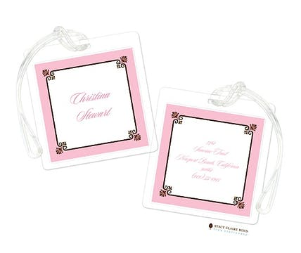 Park Avenue - Pink Luggage Tag