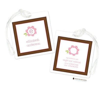 Playful Petals Luggage Tag