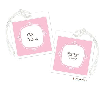 Le Cute - Pink Luggage Tag
