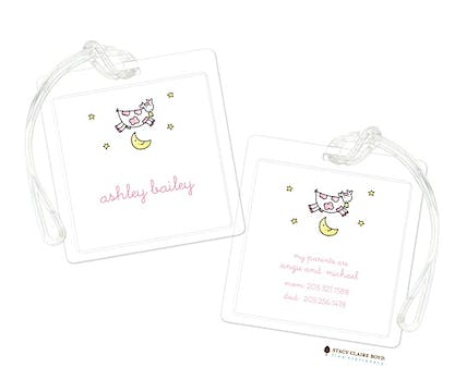 Over the Moon - Pink Luggage Tag