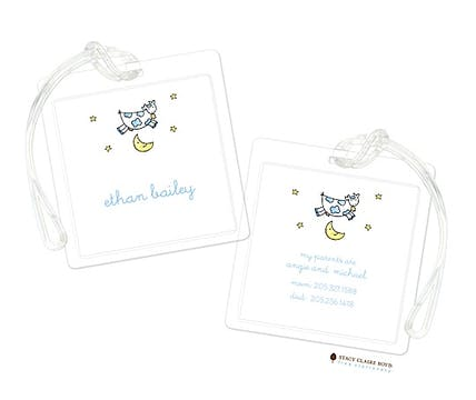 Over the Moon - Blue Luggage Tag