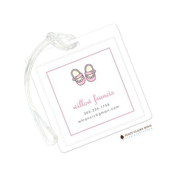 Baby Steps - Pink Luggage Tag