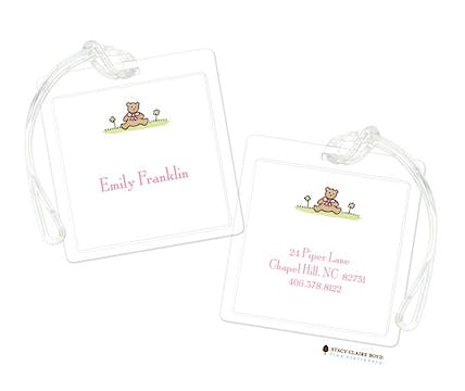 Teddy Bear - Pink Luggage Tag