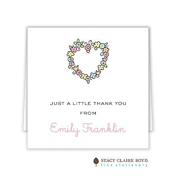 Floral Heart Folded Enclosure Card