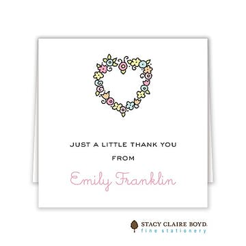 Floral Heart Folded Enclosure Card