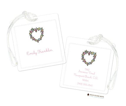Floral Heart Luggage Tag