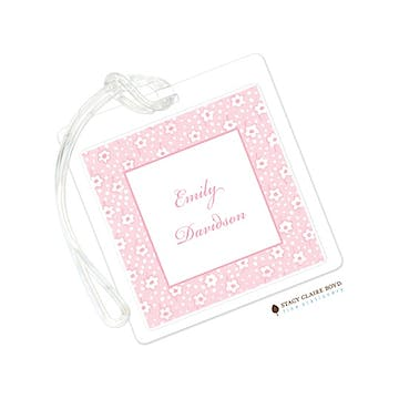 Pink Posey Luggage Tag