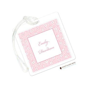 Pink Posey Luggage Tag