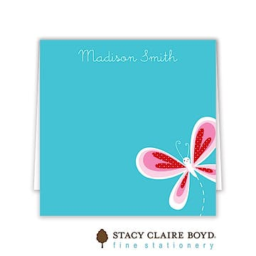 Butterfly Kisses Folded Calling Card