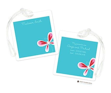 Butterfly Kisses Luggage Tag