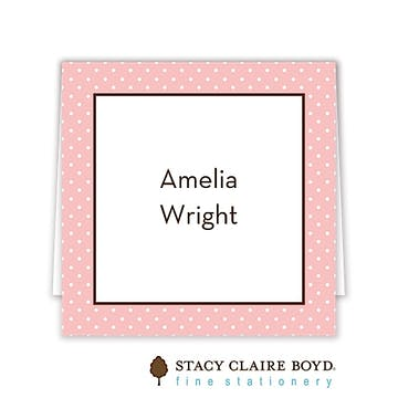 Amelias Party Folded Calling Card