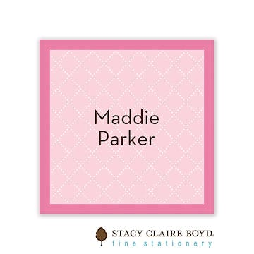 Waffle Cone Pink Flat Calling Card