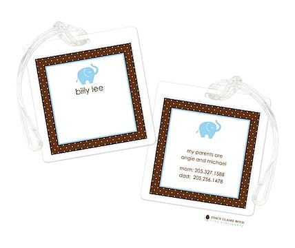 Blue Ele-Fun Luggage Tag