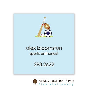 Little Sport Flat Calling Card