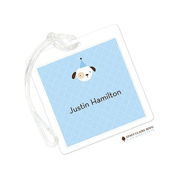 Animal Crackers Blue Luggage Tag