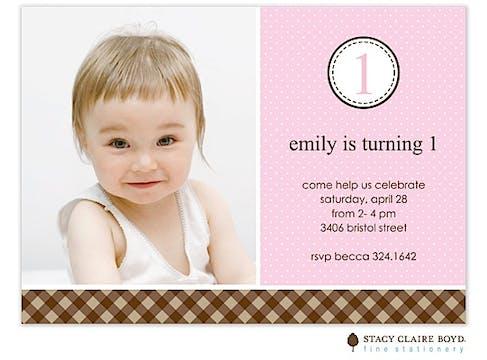 Pastel & Plaid Pink Party Invitation