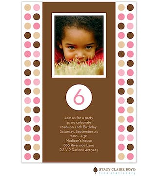 Polka Dot Party Party Invitation