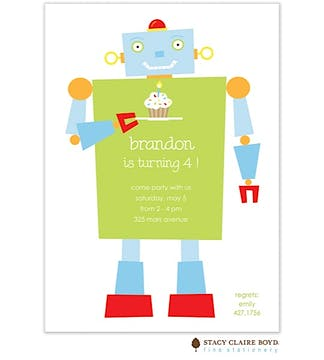 Happy Robot Party Invitation